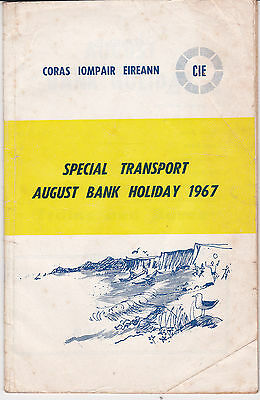 Cie Special Transport August Bank Holiday Bus & Rail Timetables 1967