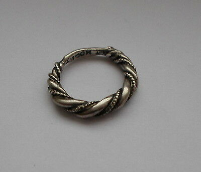 Danish 1970's Frans Magnussen Silver 925s Twisted Ring