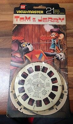Tom & Jerry Viewmaster GAF 3D 21 Photos