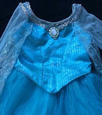 Girls Size 4 5 Disney Parks Elsa Frozen Gown Costume Dress Teal