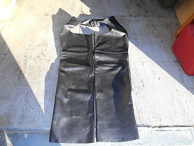 Steer Brand Made in USA Mens Medium unlined LEATHER CHAPS NICE CONDITION!!!