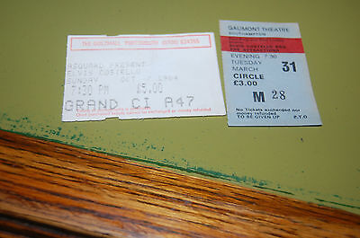 2 Elvis Costello Concert Tickets  1980's