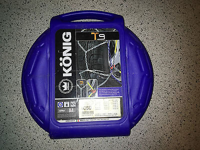 Konig 060 Snow chains X2 - tyre sizes listed in details
