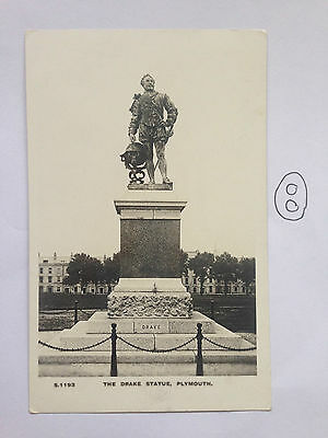 The Drake Statue Plymouth Kingsway Real Photograph Series Postcard