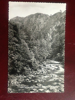 View From Aberglaslyn Bridge Valentine's Real Photograph Postcard