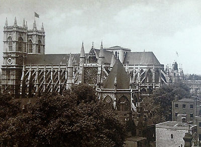London Westminster Abbey From The South Photochrom Postcard