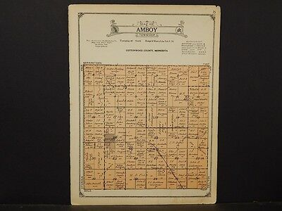 Minnesota, Cottonwood County Map, 1926 Township of Amboy Y1#45