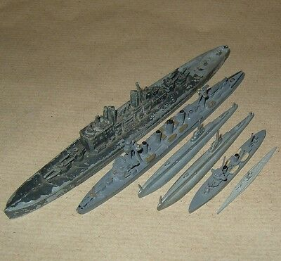 Assorted 1;1200 Scale Waterline Models x6