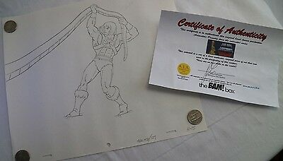 HE-MAN Masters of the Universe Production Animation Pencil Drawing with COA