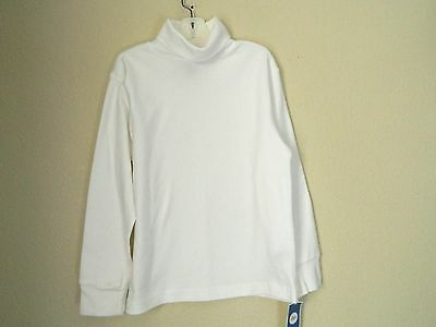 NEW WITH TAGS CIRCO girls White TURTLENECK TOP SHIRT, long-sleeve, size S (6-7)