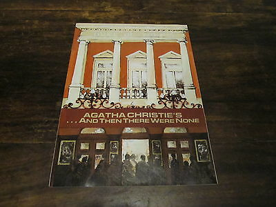 SUPERB RARE Agatha Christie's And Then There Were None 1987 Theatre Programme