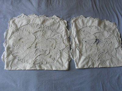 Two Lovely Vintage Pillowcases