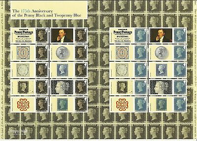 GBR SMILER LS 94 - 175th ANNIVERSARY OF THE PENNY BLACK AND TWOPENNY BLUE