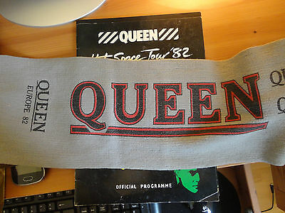 Queen tour programme and scarf