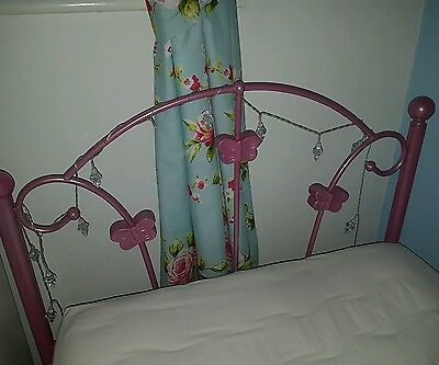 Girls Pink Butterfly Single Bed Collection Only