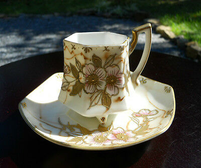 Rare! Shofu Hand Painted Cup And Saucer Set Made In Japan!
