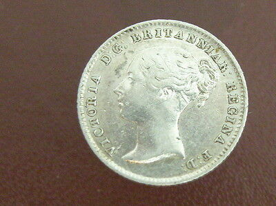 1838 - Queen Victoria - SILVER GROAT FOURPENCE COIN - Good Detail