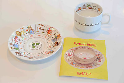 Royal Kendal English Bone China Fortune Telling Teacup And Saucer *new & Boxed*