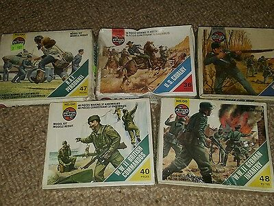 vintage airfix soldiers boxed collection ex shop stock on sprues shrink wrapped