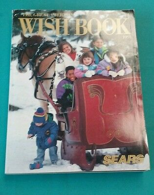 1991 Sears Roebuck & Company Christmas  Wish book Catalog Good Condition