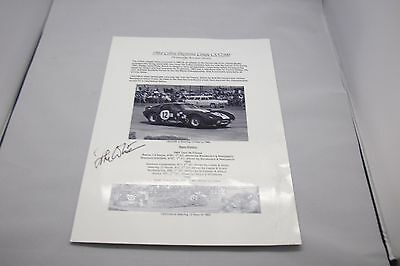 Sir John Whitmore SIGNED Shelby Cobra Daytona Coupe CSX2300 Chassis Sales A4 Ad