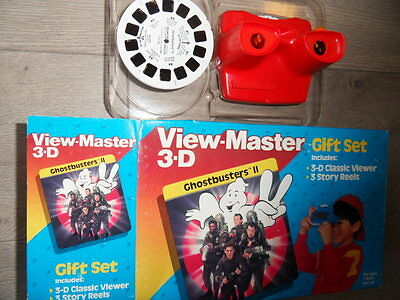 Viewmaster  Ghostbusters 2 21 3-D pics and viewer box set 1989