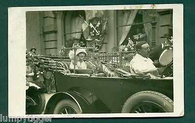 ROYAL VISIT IN YORKSHIRE 1925 BY HANSTOCK YORK vintage postcard