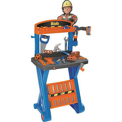 Bob The Builder 1St Workbench With Mechanical Drill And Tools New