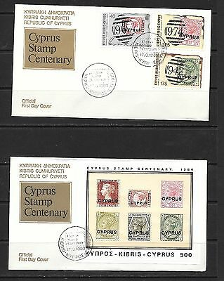 Cyprus 1980 Stamp Centenary 2 FDC