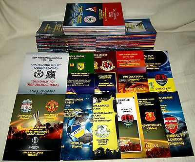 UPDATED LIST OF CHAMPIONS LEAGUE and EUROPA LEAGUE VARIOUS PROGRAMMES ! MINT !