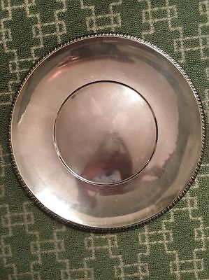 Antique Wallace Sterling Silver 744 Grams 14 Inch Round Serving Tray Platter