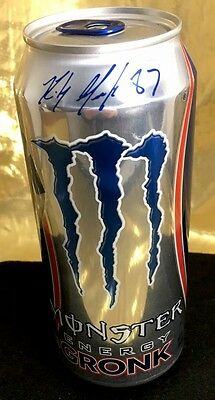 MONSTER ENERGY DRINK, 16oz Rob Gronkowski #87, New England Patriots, Full or Emp