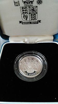 Silver Proof £1 coin 1993