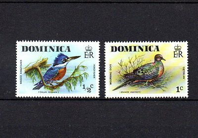 2 mint bird themed stamps from dominica