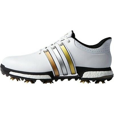 New Men'S Adidas Tour 360 Boost Golf Shoes White/gold F33483- Pick A Size