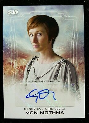 2016 Topps Star Wars Rogue One Series 1 Autograph Genevieve O'Reilly Mon Mothma