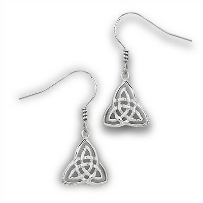 Stainless steel Celtic Trinity Knot earrings Triquerta