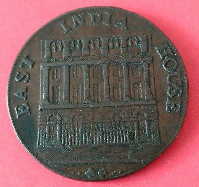 Yorkshire Huddersfield Halfpenny Token 1793 East India House Downings Edge