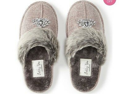Ladies Mules/Slippers By Pretty you London. Size 6-7. BNWT -Patty Pink. RRP £26