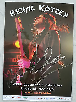 signed RICHIE KOTZEN (The Winery Dogs) mini poster (size A4) Budapest show 2009