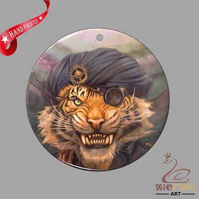 Fashion Necklace Hand Painted Lion Shell Pendant Zp30 01143