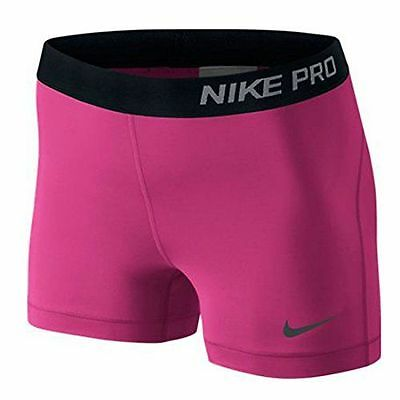 Nike Womens Pro 3 Hypercool Graphic Training Shorts, Vivid Pink Various Sizes
