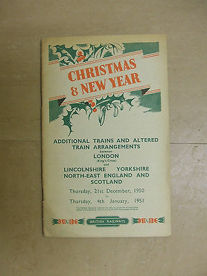 BR CHRISTMAS & NEW YEAR Additional Trains 21st Dec,1950 to 4th Jan,1951.