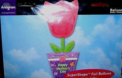 """Giant 37"""" Happy Mother Day Super Shape Foil  Balloon"""