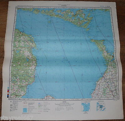 Authentic Soviet Army Military Topographic Map Alpena, Michigan USA / CANADA 101