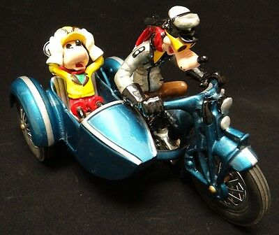 Pride Lines Die-Cast Disney Toy Motorcycle Sidecar Goofy Driving Mickey Mouse