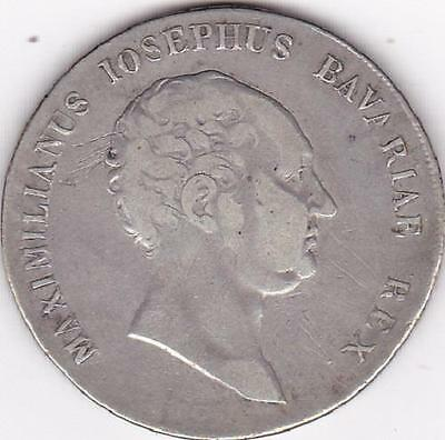 1809 Germany States Bavaria Silver Thaler Taler Krone Coin