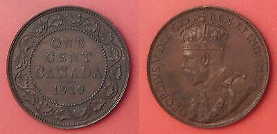 Very Fine 1919 Canada Large 1 Cent