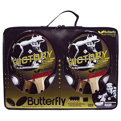 Butterfly Victory 4 Player Table Tennis Ping Pong Set w/ FREE Shipping