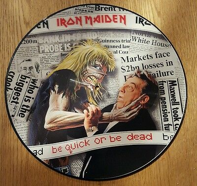 """Iron Maiden  Be Quick Or Be Dead  1992  12""""picture Disc  Emi"""